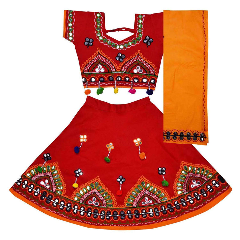 Girl's Cotton Ghaghra Choli, Leghnga Choli, Chania Choli 143rd -  Wish Karo Dresses