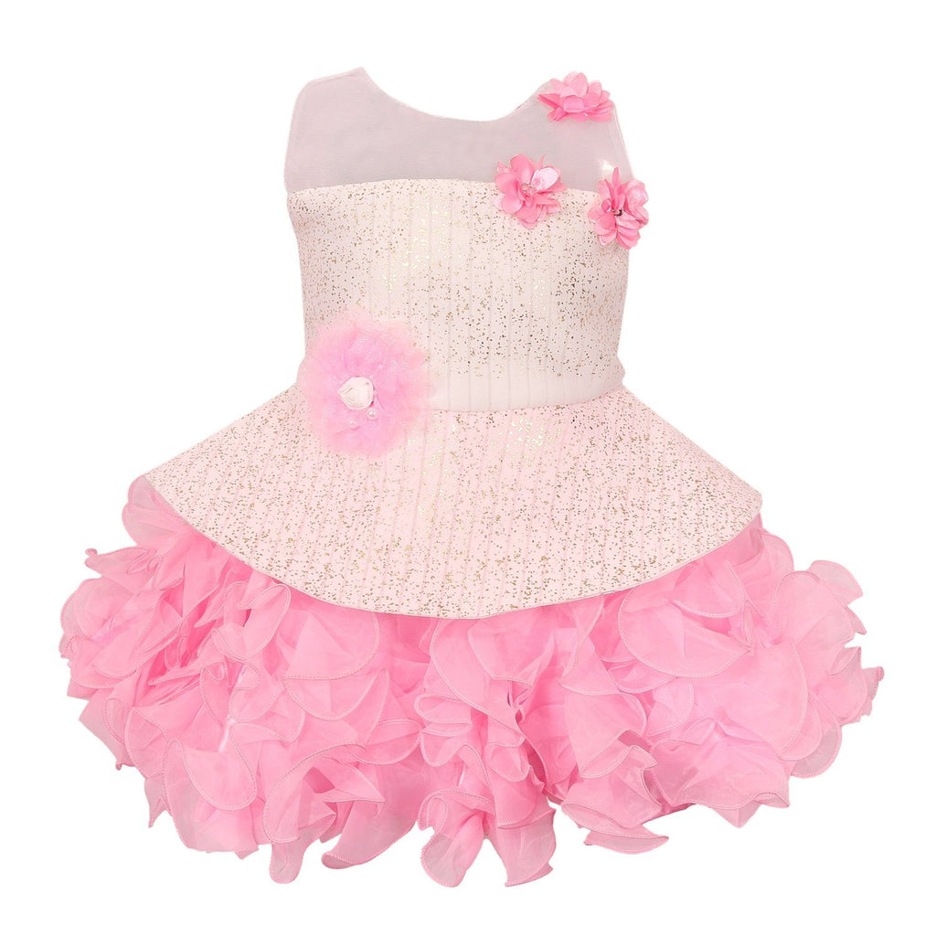 Baby Girls Party Wear Frock Dress Fe2439bpnk -  Wish Karo Dresses