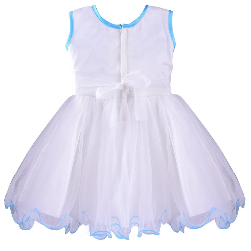 Baby Girls Frock Dress DN bx53blu -  Wish Karo Dresses