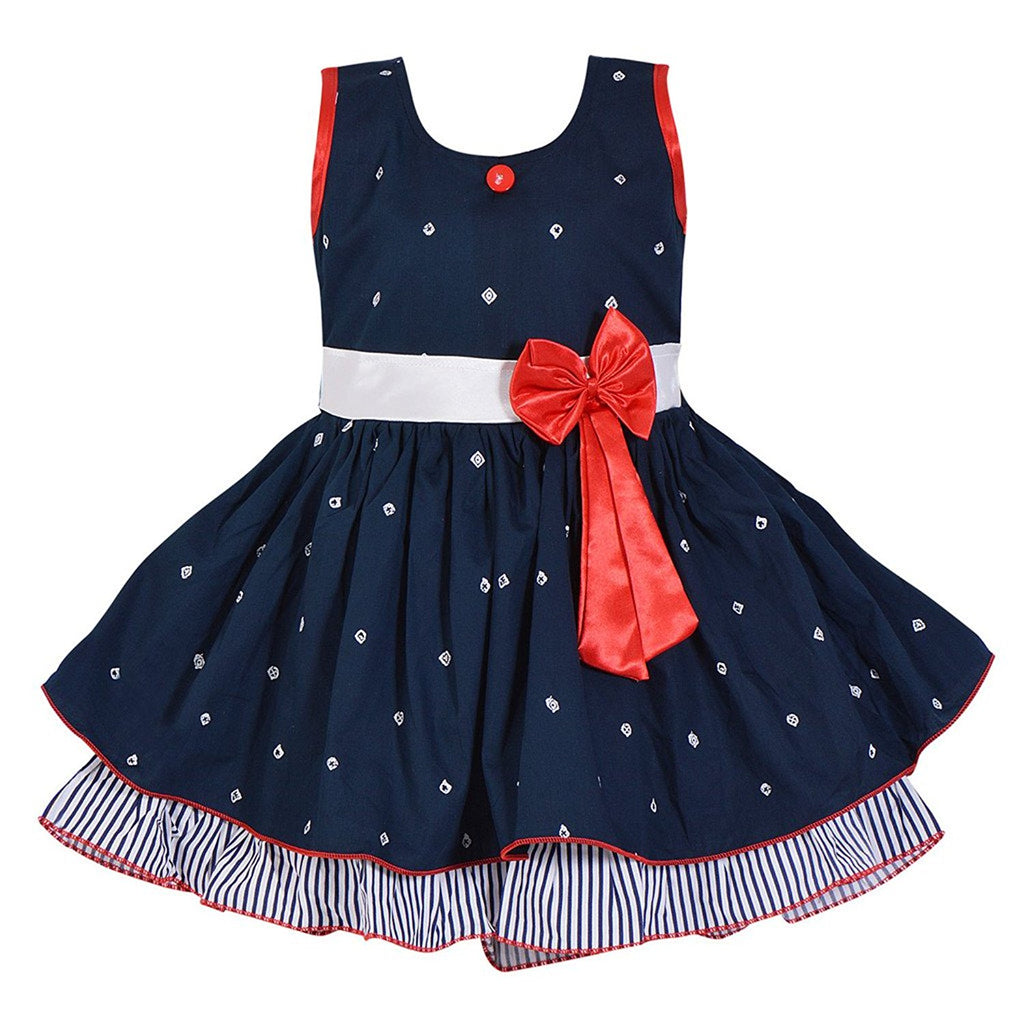 Baby Girls Cotton Frock Dress DN (ctn054nb) -  Wish Karo Dresses