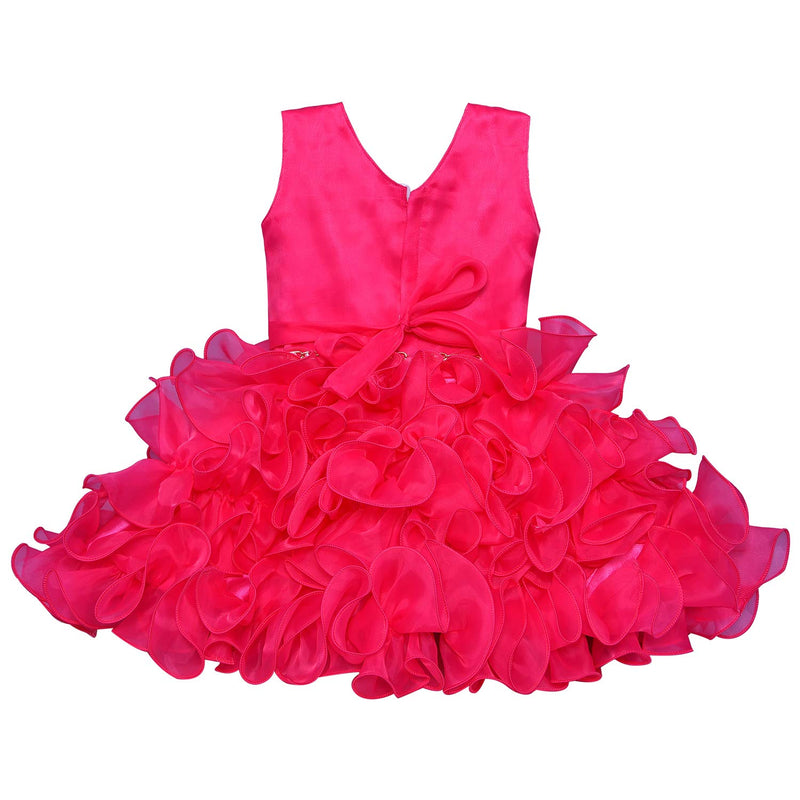 Baby Girls Party Wear Dress Birthday Frocks for Girls bxa109pnk