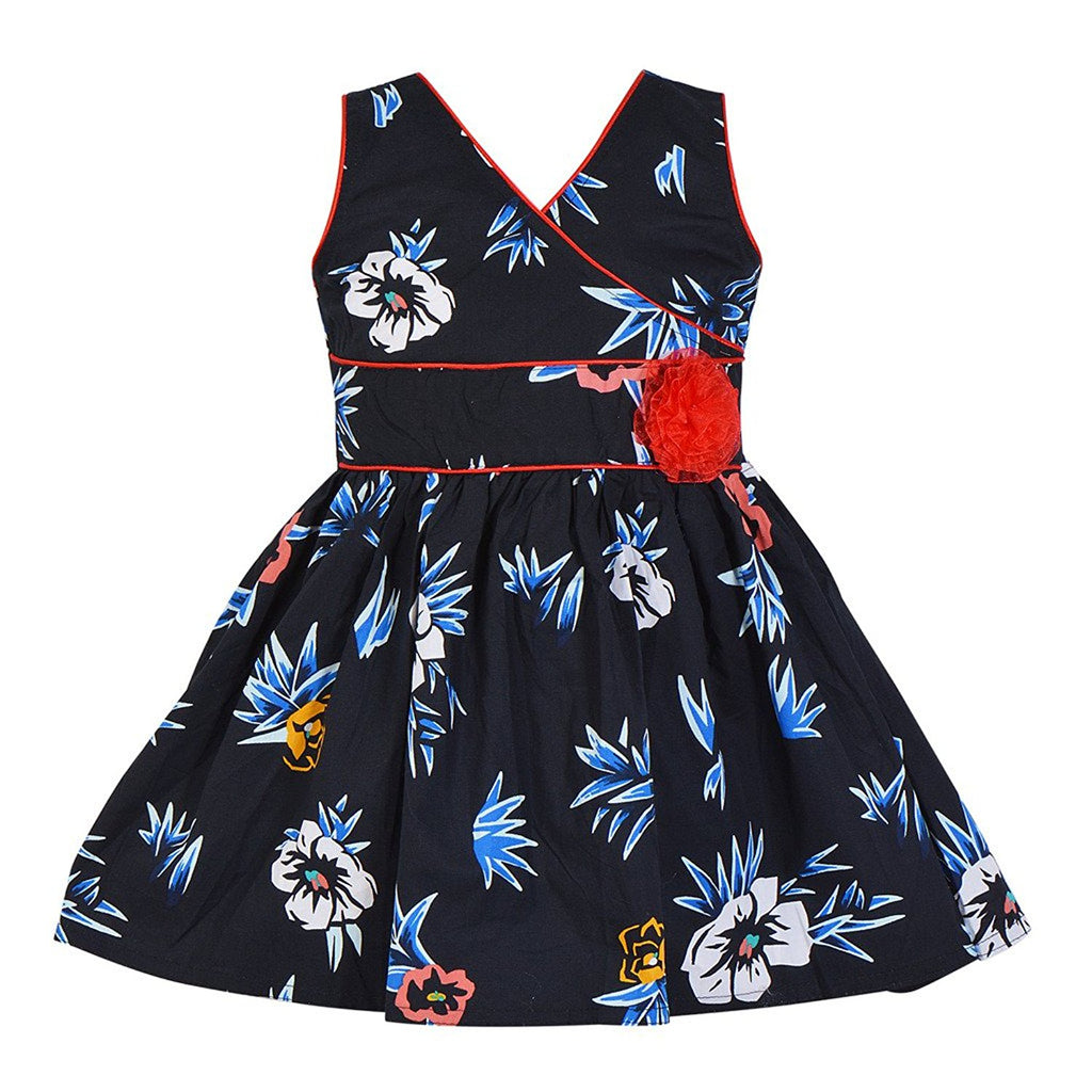 Baby Girls Cotton Frock Dress Ctn051blk -  Wish Karo Dresses