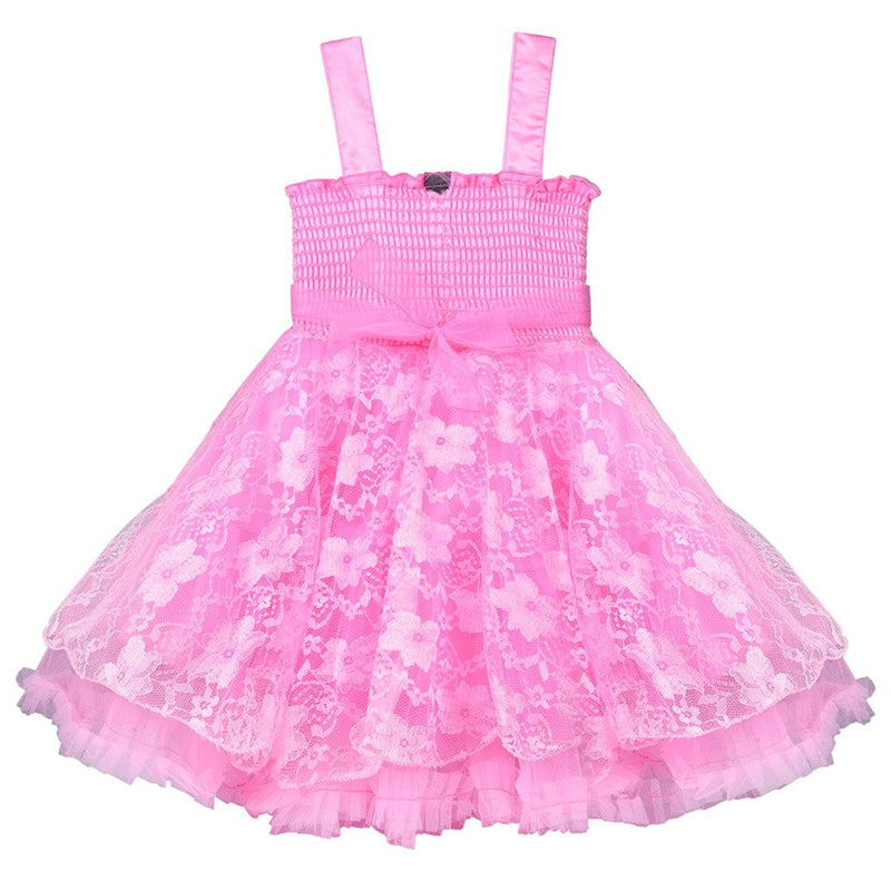 Baby Girls Party Wear Frock Dress fr1031bpknw -  Wish Karo Dresses