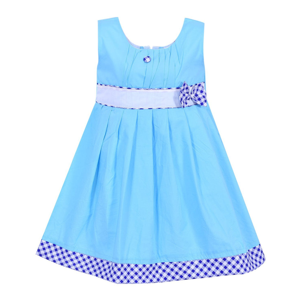Baby Girls Dress ctn013blu -  Wish Karo Dresses