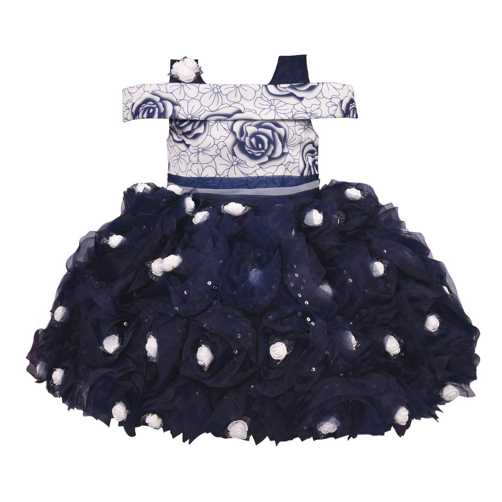 Wish Karo Baby Girls Party Wear Frock Dress DN - (bxa174blu) -  Wish Karo Dresses