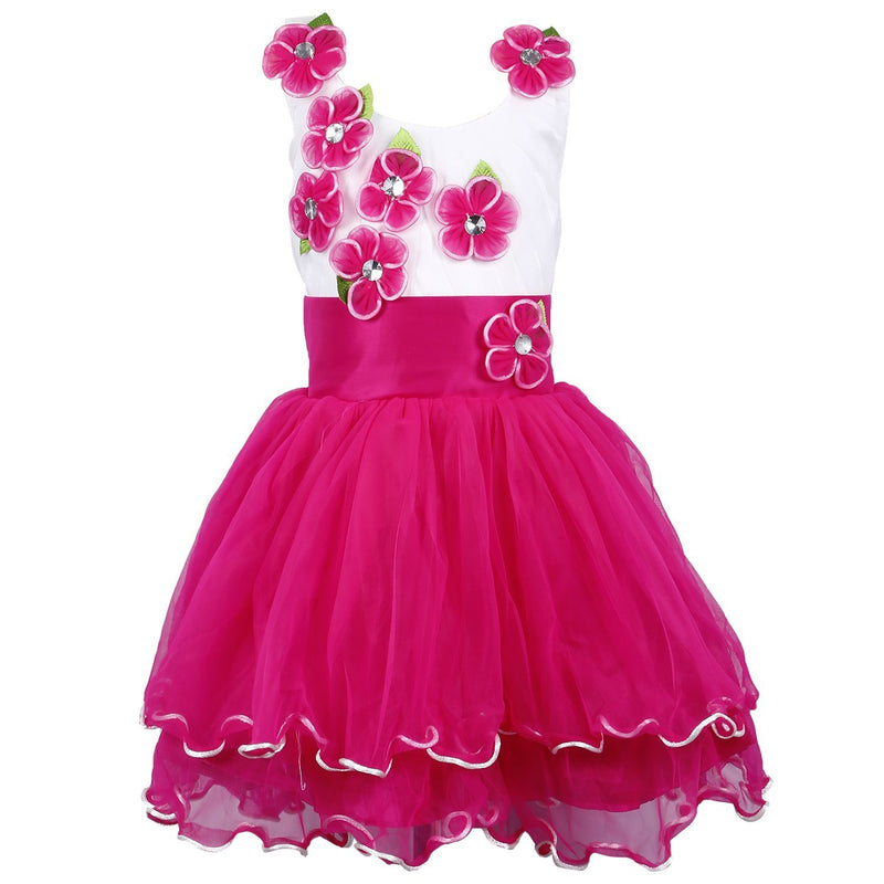 Baby Girls Party Wear Frock Dress DN195 -  Wish Karo Dresses