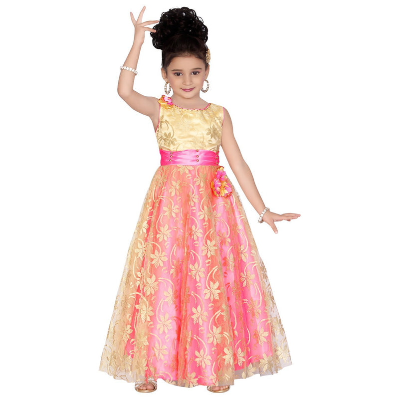 cdd2f86eec Girls Gown long frocks fr807 - Wish Karo Dresses