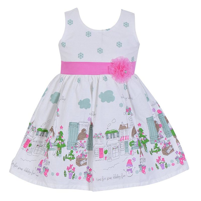 Baby Girls Cotton Frock Dress Ctn052w -  Wish Karo Dresses