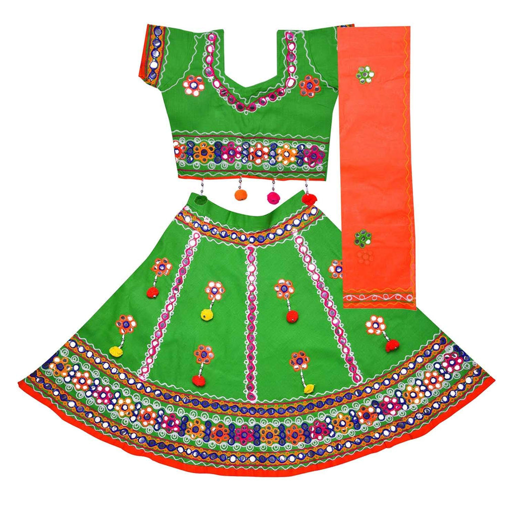 Girl's Cotton Ghaghra Choli, Leghnga Choli, Chania Choli 144g -  Wish Karo Dresses