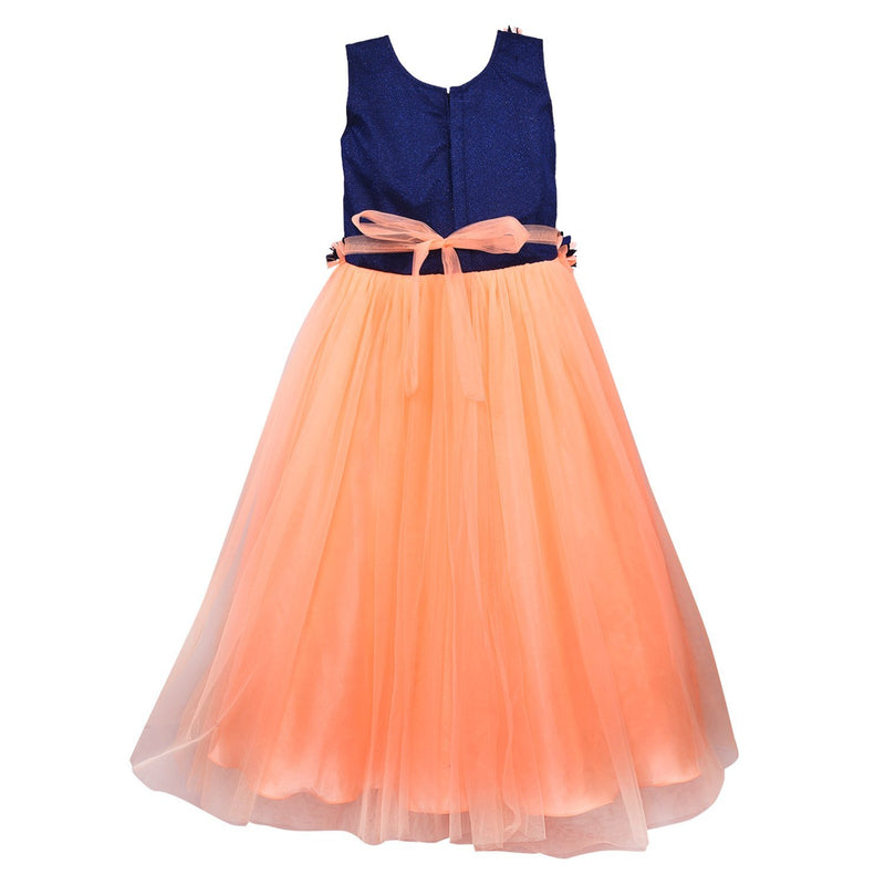 Girls Party Wear Long Dress Gown Bxa1006pch -  Wish Karo Dresses