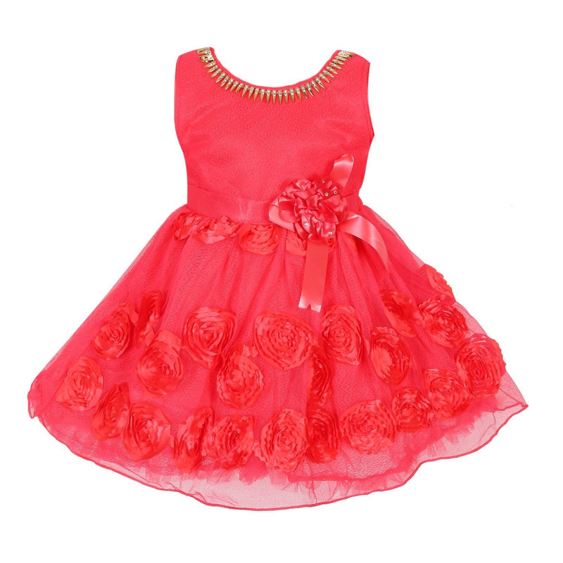 Baby Girls Party Wear Frock Dress fe2448rd -  Wish Karo Dresses