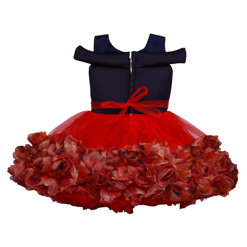 Baby Girls Party Wear Frock Dress bxa172rd -  Wish Karo Dresses