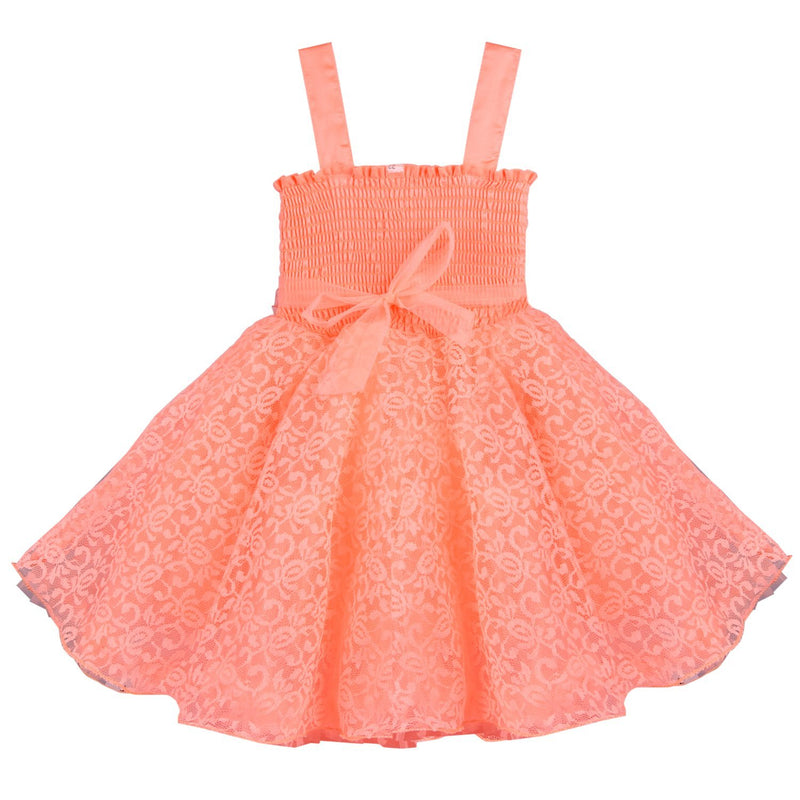 Baby Girls Party Wear Frock Dress DN fr1031pch -  Wish Karo Dresses