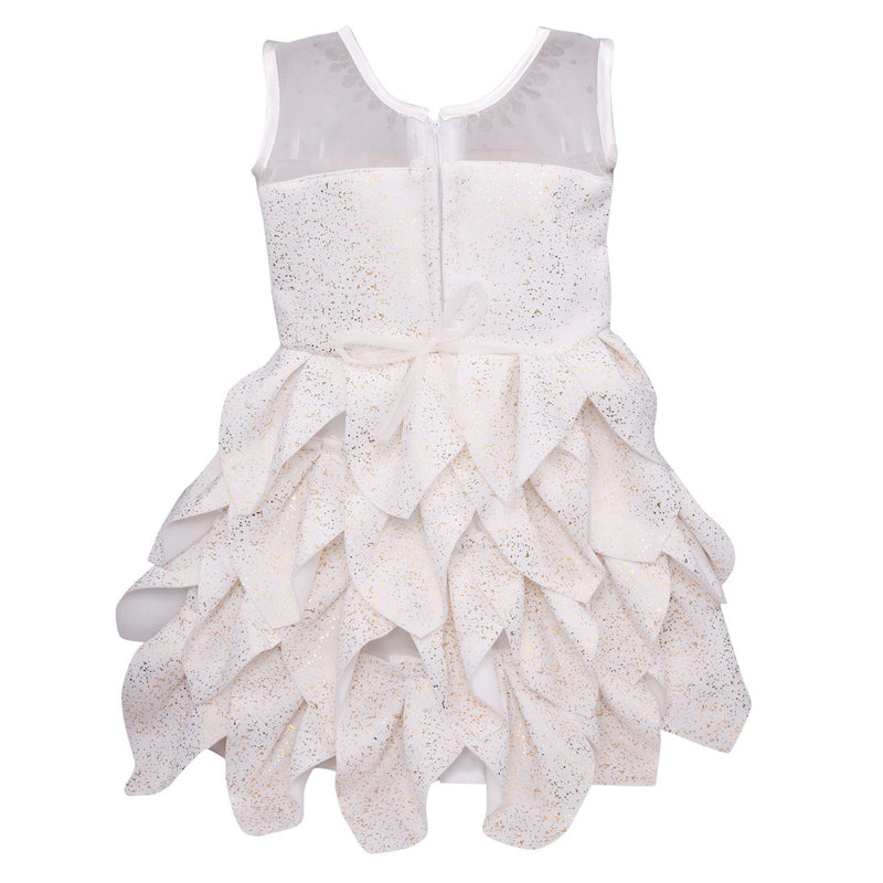 Baby Girls Party Wear Frock Dress fe2441wht -  Wish Karo Dresses