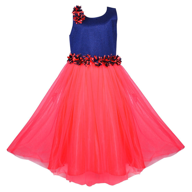 Girls Party Wear Long Dress Gown Bxa1006rd -  Wish Karo Dresses