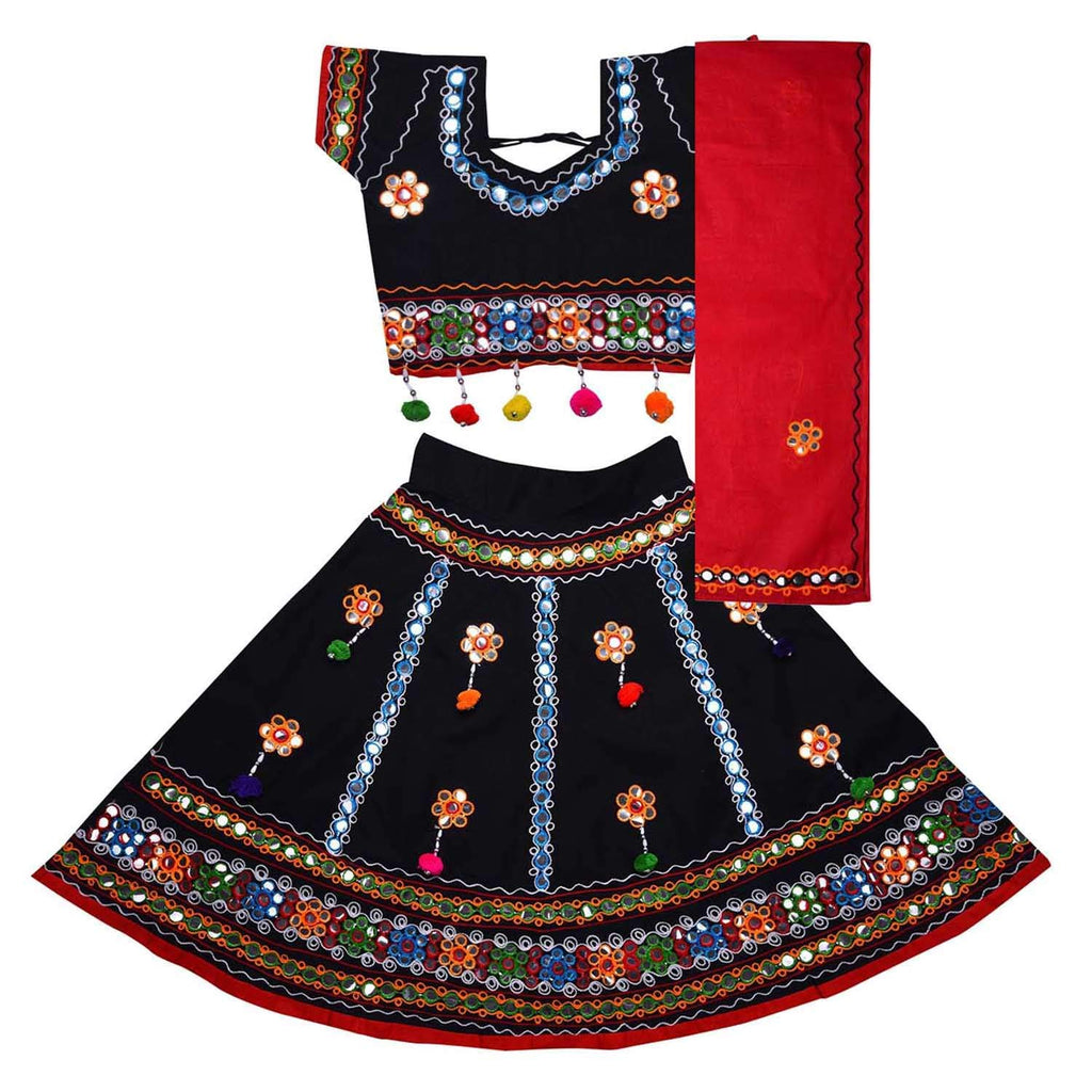 Girl's Cotton Ghaghra Choli, Leghnga Choli, Chania Choli 144 -  Wish Karo Dresses