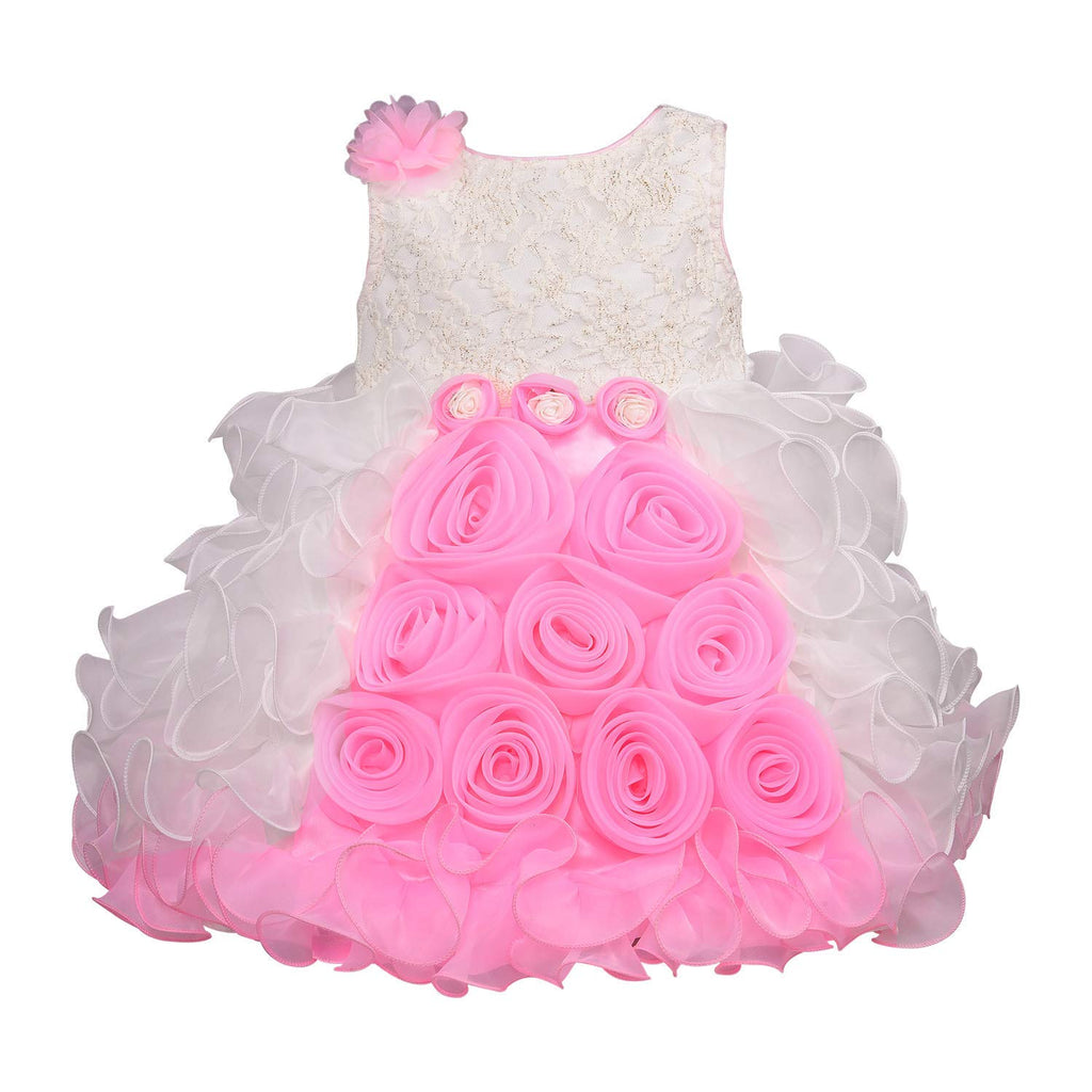 Baby Girls Party Wear Frock Dress bxa170bpnk -  Wish Karo Dresses