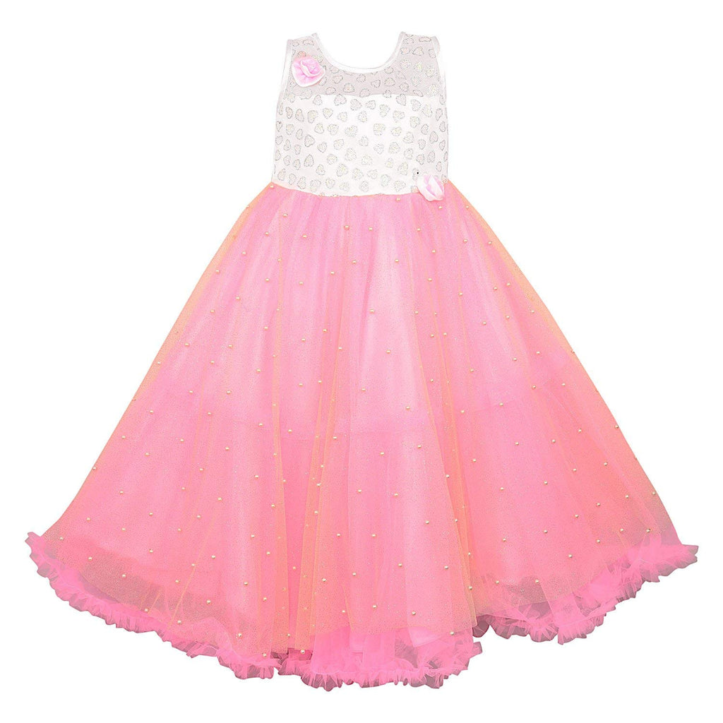 Girls Party Wear Frock Dress LF131bpnk -  Wish Karo Dresses