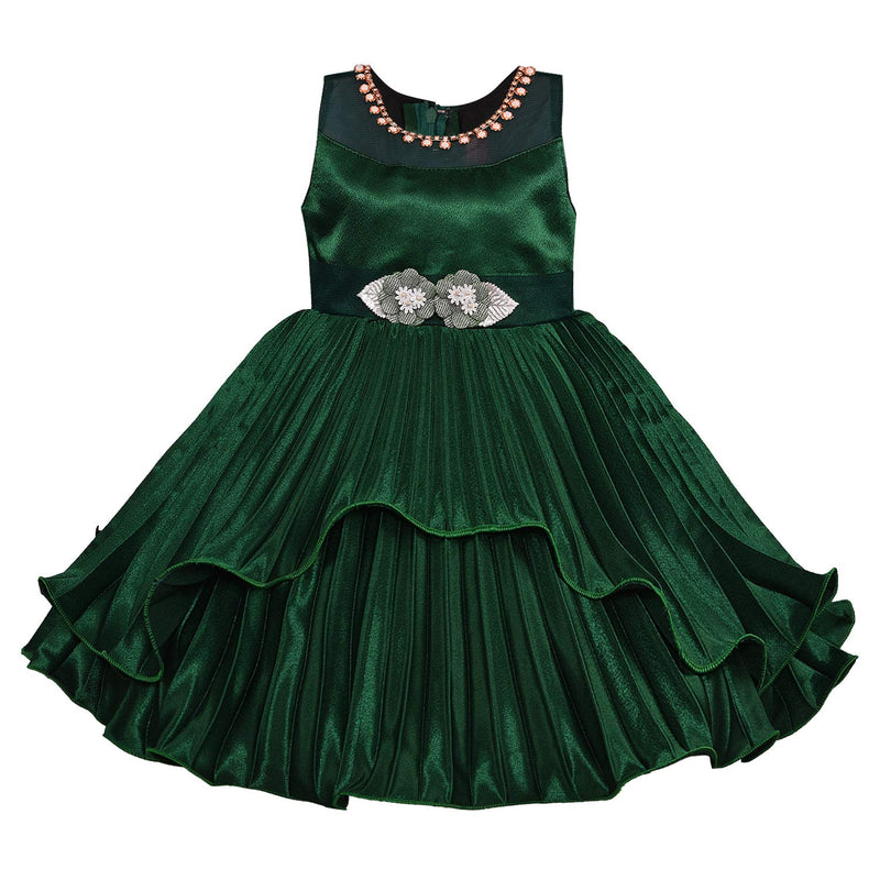 Baby Girls Party Wear Dress Birthday Frocks For Girls bxa235grn