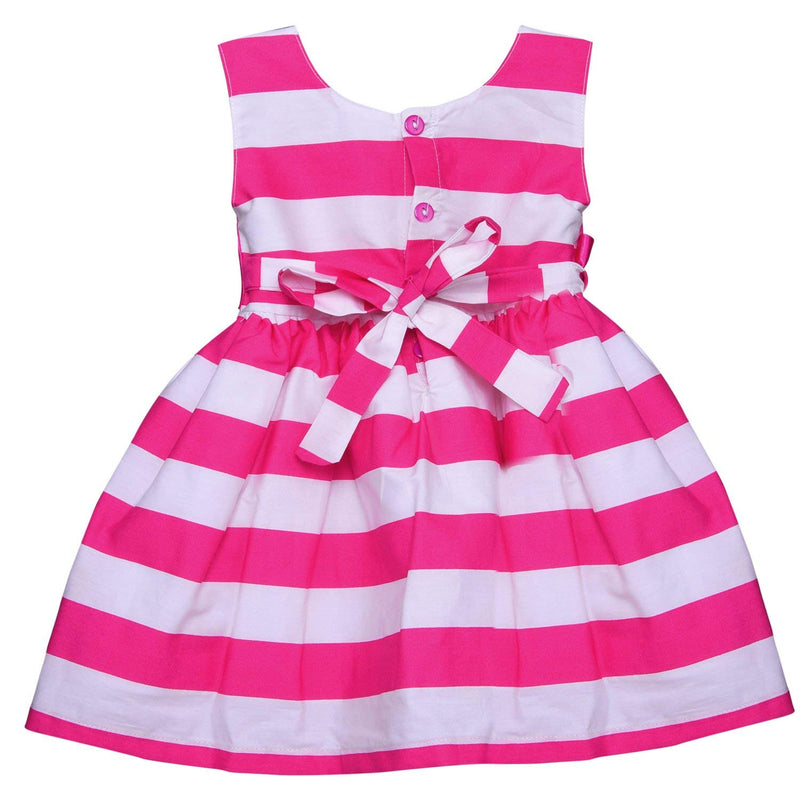 Baby Girls Party wear Frock Dress ctn265pnk -  Wish Karo Dresses