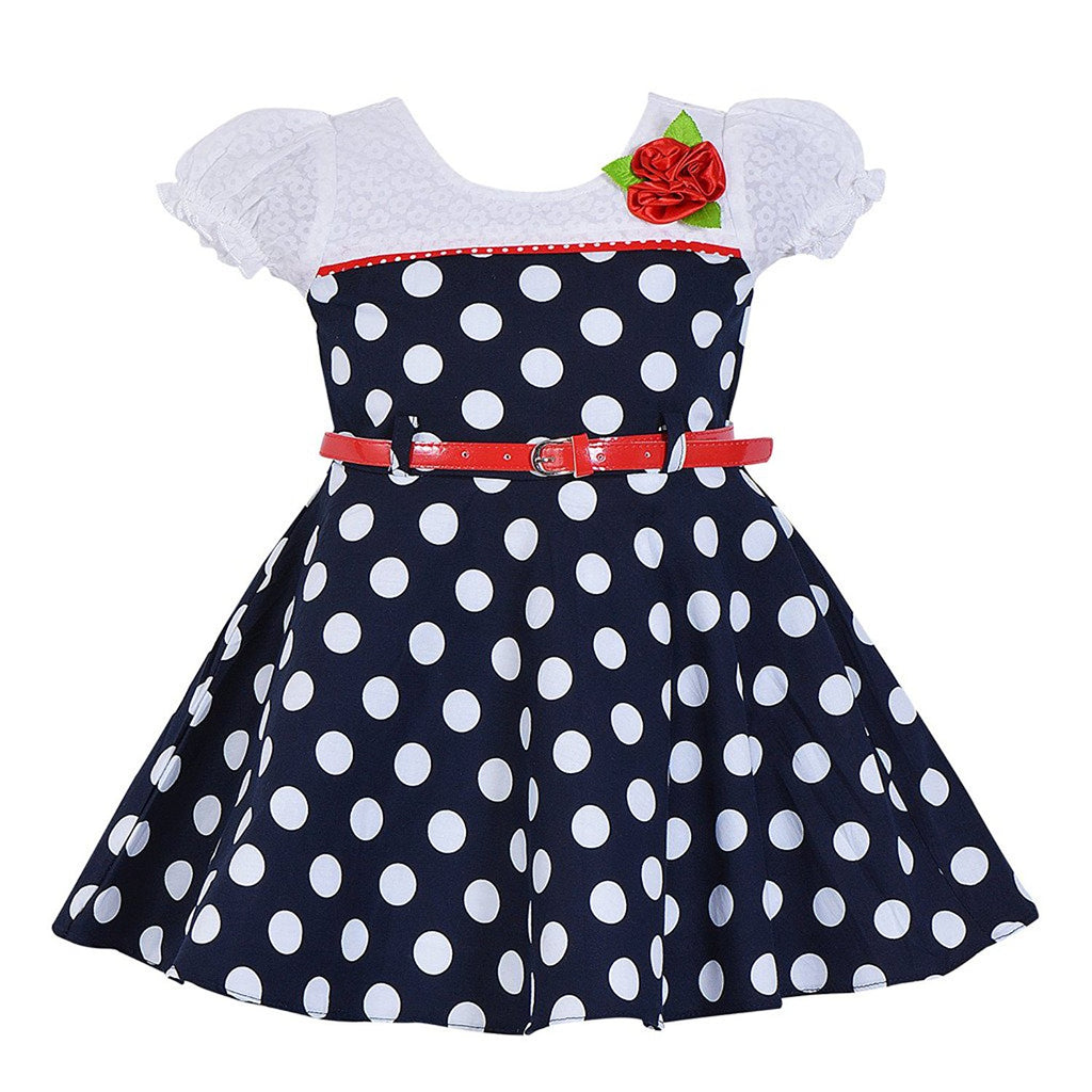 Baby Girls Cotton Frock Dress Ctn053nb -  Wish Karo Dresses