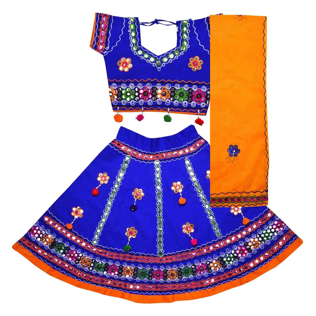 Girl's Cotton Ghaghra Choli, Leghnga Choli, Chania Choli 144b -  Wish Karo Dresses