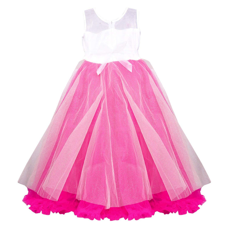 Girls Party Wear Frock Dress LF131PNK -  Wish Karo Dresses