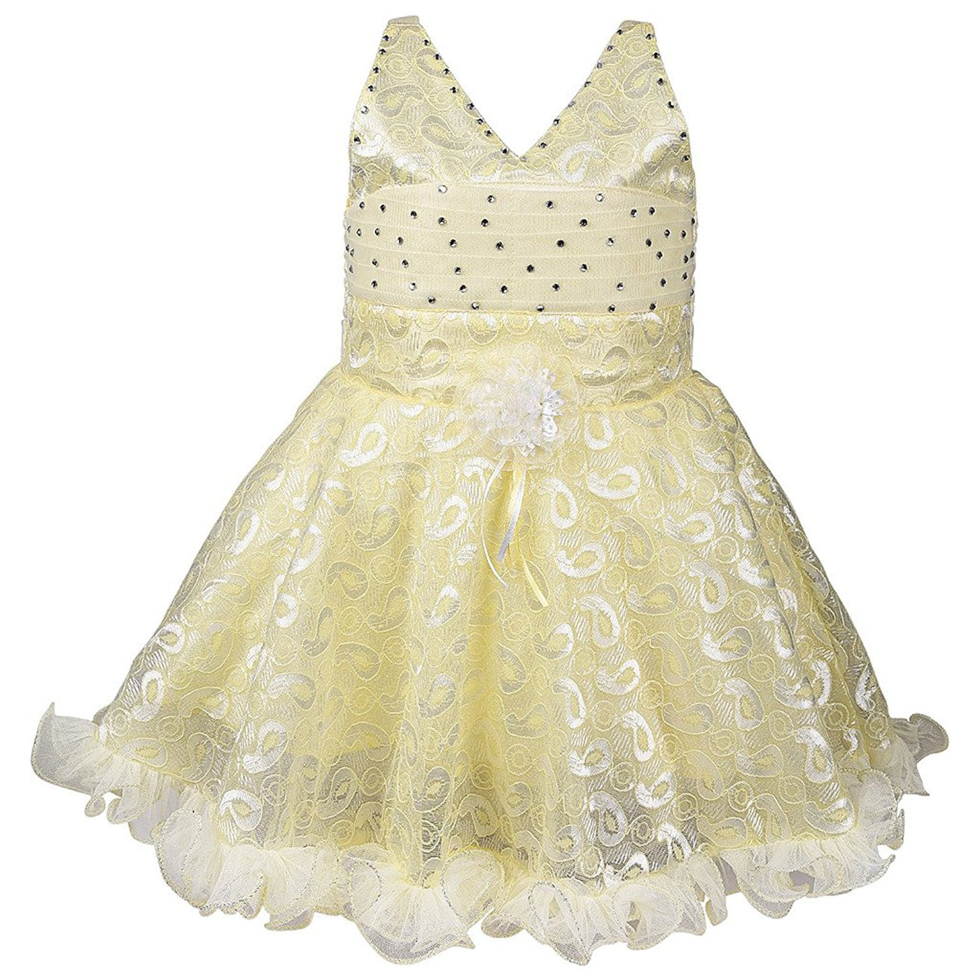 56fb8246a Baby Girls Party Wear Frock Dress DN fe1203cnw - Wish Karo Dresses ...