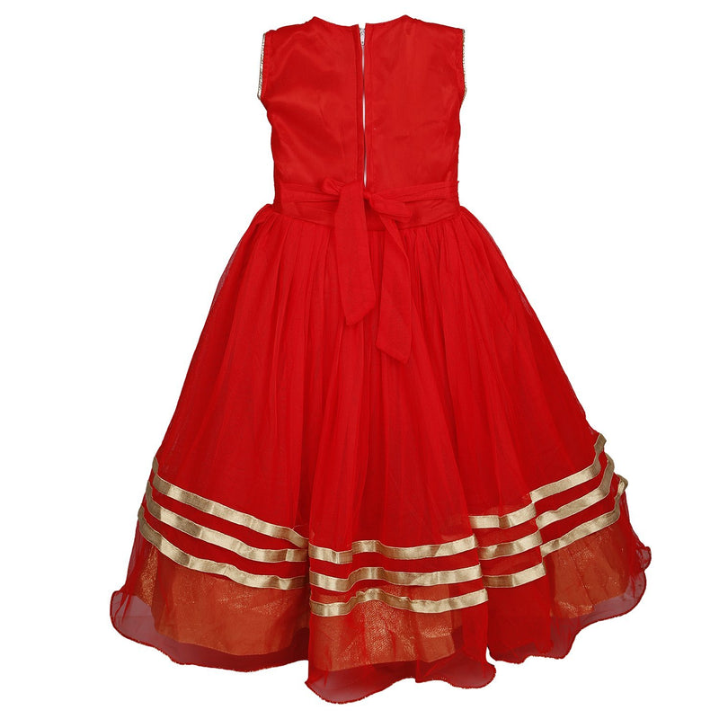 Girls Long Frock Dress fr23LF -  Wish Karo Dresses