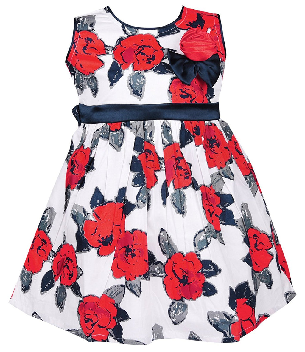 Baby Girls Cotton Frock Dress DN CTN152rd -  Wish Karo Dresses