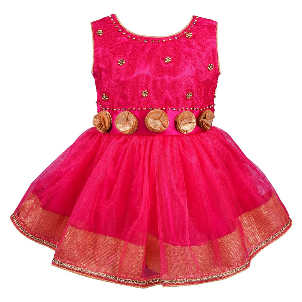 baby girls Party Wear Frock Dress Bx82pnk -  Wish Karo Dresses