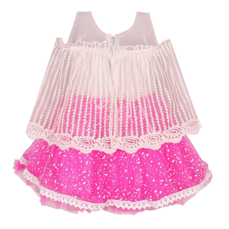 Baby Girls Party Wear Frock Dress fe2444pnk -  Wish Karo Dresses