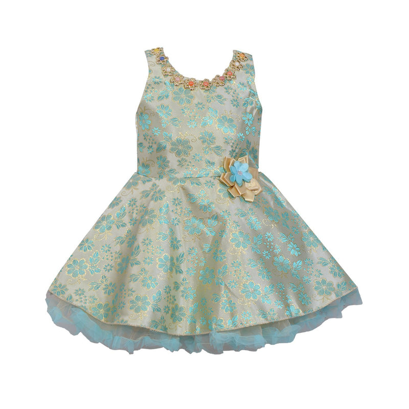 Baby Girls Party Wear Frock Dress fe2407blu -  Wish Karo Dresses