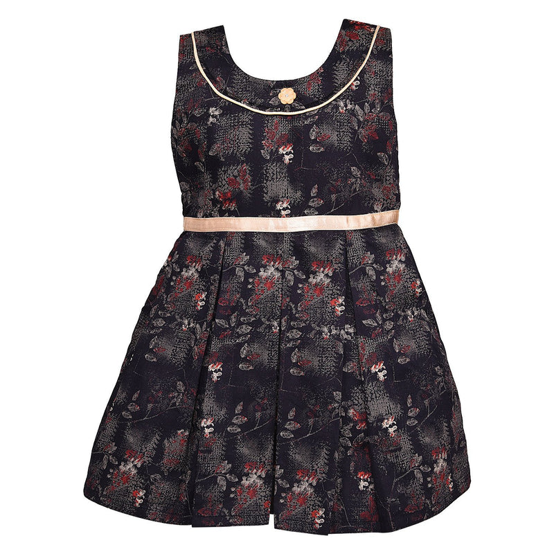 Baby Girls cotton Frock-ctn255bk -  Wish Karo Dresses