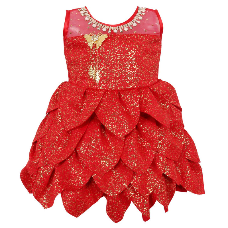 Baby Girls Party Wear Frock Dress Fe2441rd -  Wish Karo Dresses