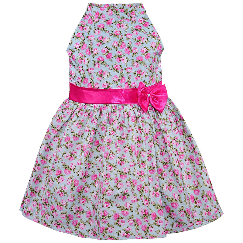 Baby Girls Cotton Frock Casual Dress for Girls-ctn303blu