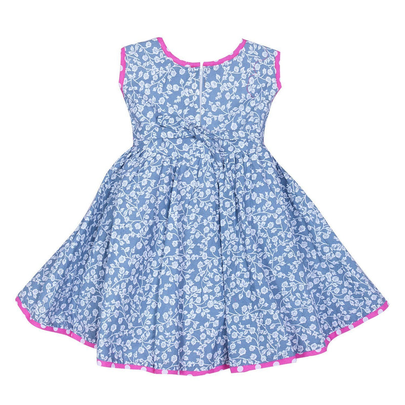 Baby Girls Cotton Frock Dress Ctn164nw -  Wish Karo Dresses