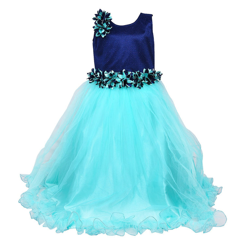 Girls Partywear Gown bxa1006sg -  Wish Karo Dresses