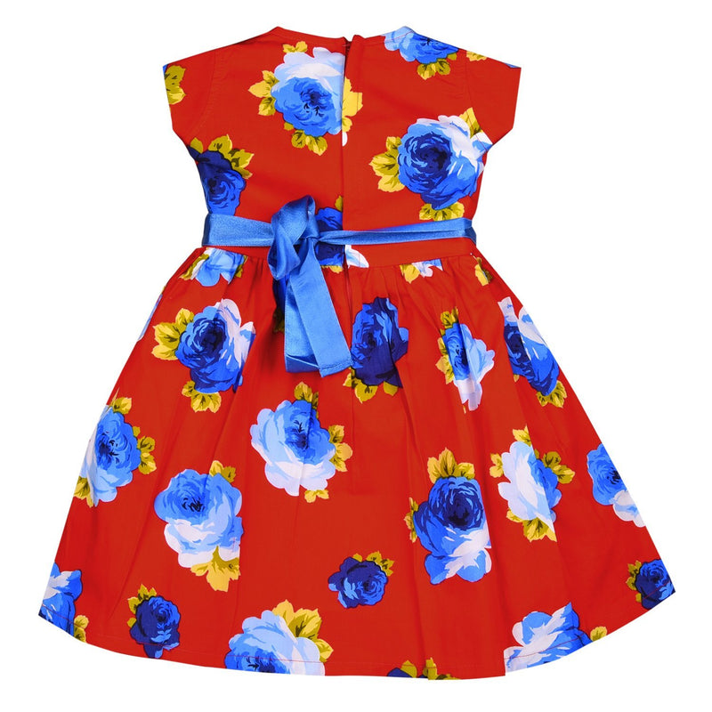 Baby Girls Cotton Frock Dress Ctn156rd -  Wish Karo Dresses