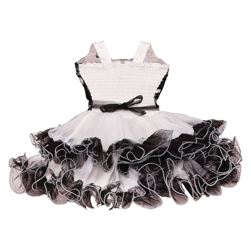 Baby Girls party wear Frock Dress fr2503blk -  Wish Karo Dresses