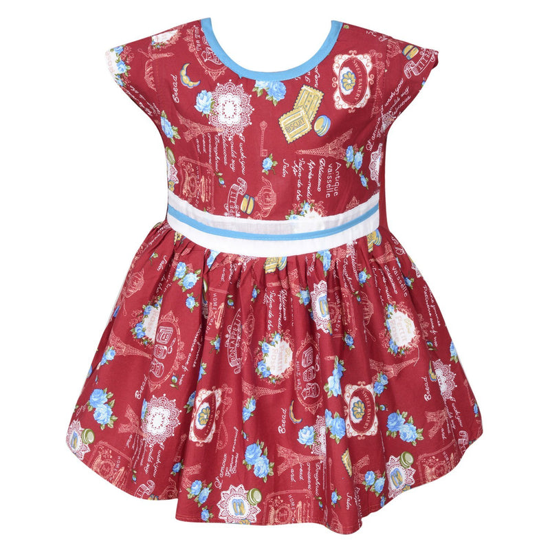 Baby Girls Party Wear Frock Dress ctn260rd -  Wish Karo Dresses