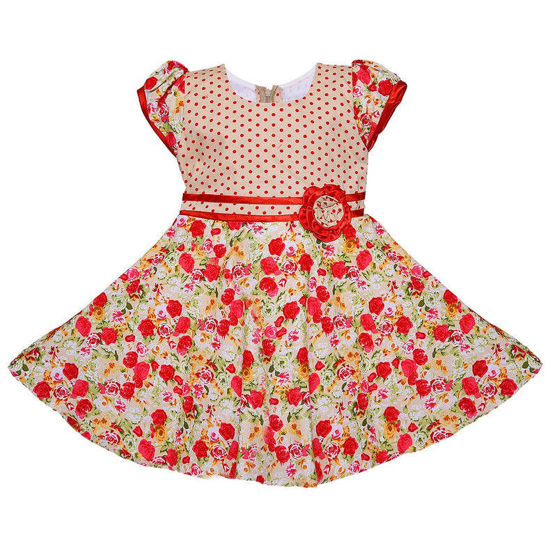 Baby Girls Cotton Frock Dress Ctn254rd -  Wish Karo Dresses