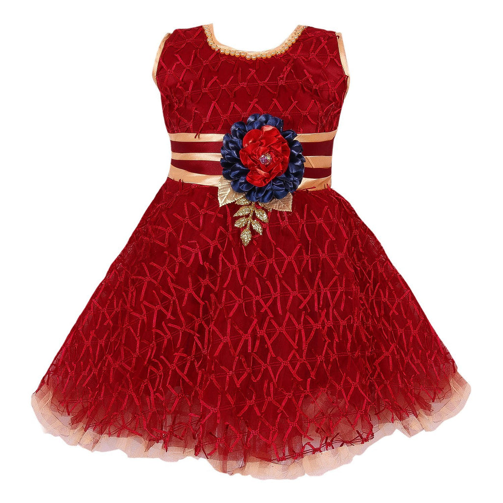 Baby Girls Party Wear Frock Dress fe2436mm -  Wish Karo Dresses