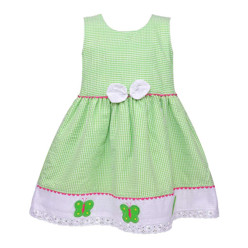 Baby Girls Cotton Frock Dress Ctn272g -  Wish Karo Dresses