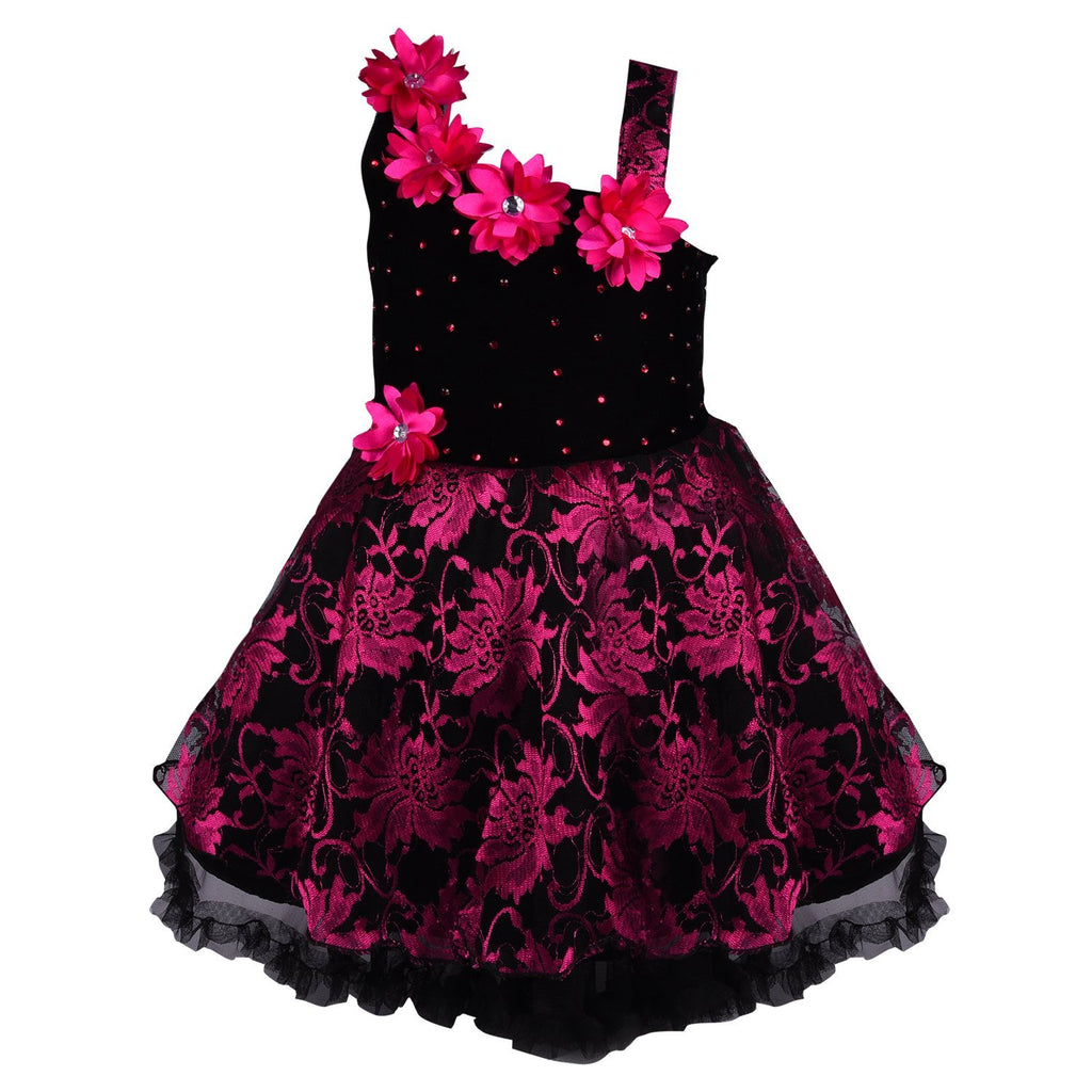 Baby Girls Party Wear Frock Dress DN1102pnk -  Wish Karo Dresses