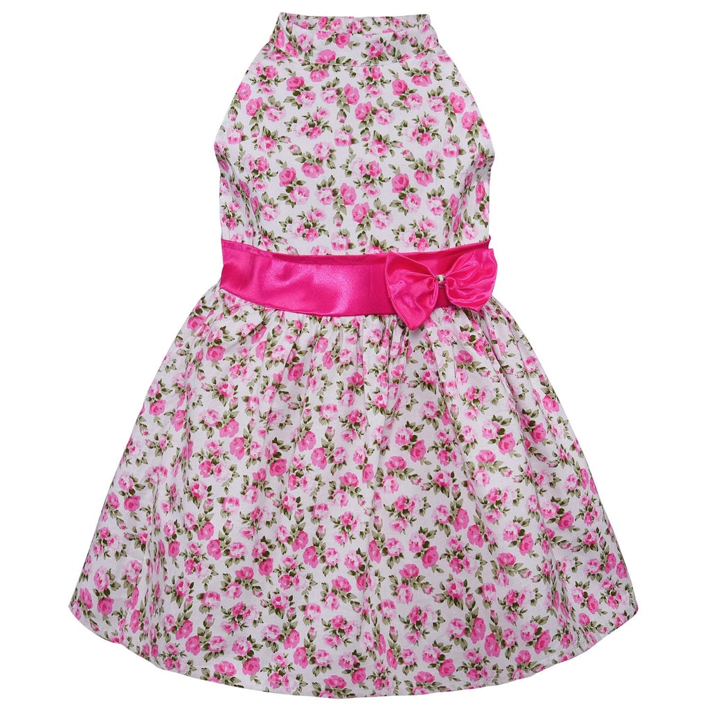 Baby Girls Cotton Frock Casual Dress for Girls-ctn303pknw