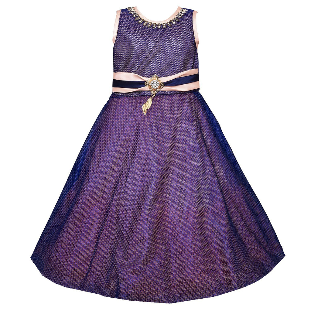 Girls Party Wear Long Dress Gown LF133pch -  Wish Karo Dresses