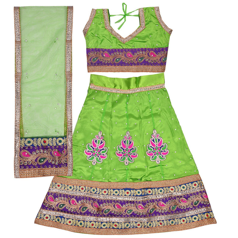 Girl's Leghnga Choli GC 127pg -  Wish Karo Dresses