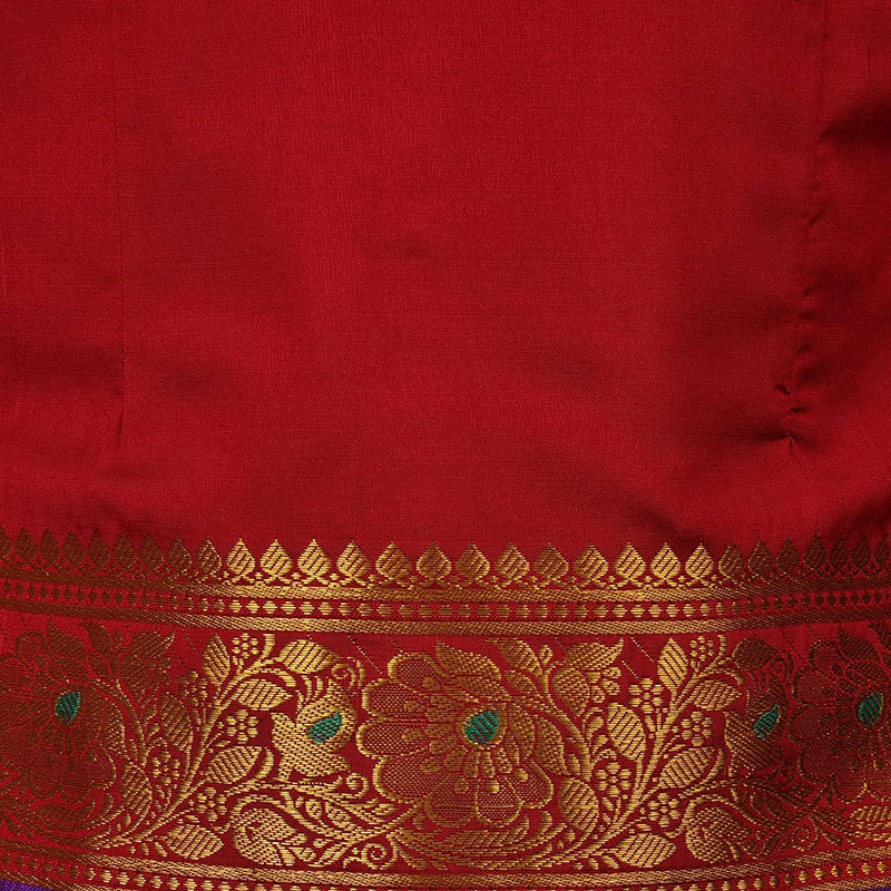 Girl's Traditional Art Silk Stitched Lehenga Choli-gc205mrn