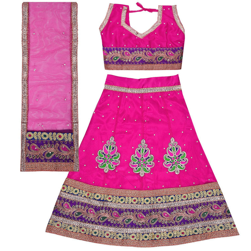 Girl's Leghnga Choli GC 127pnk -  Wish Karo Dresses